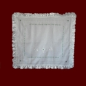 Click to Enlarge Picture - Hail Mary Irish Linen Christening Blanket
