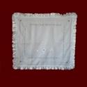 Hail Mary Irish Linen Christening Blanket
