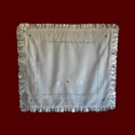 Irish Linen Hail Mary Christening Blanket