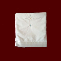 Click to Enlarge Picture - Precious Child of God Boys Minky Christening Blanket
