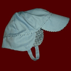 Click to Enlarge Picture - Toddler Boys Hat With Earflaps & Chin Strap, Size 3T