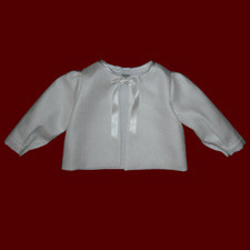 Click to Enlarge Picture - Baby Christening Jacket With Optional Bonnet