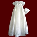 Click to Enlarge Picture - Boys Silk Christening Gown