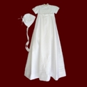 Click to Enlarge Picture - Boys Shantung Christening Ensemble with Detachable Gown