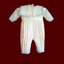 Click to Enlarge Picture - Sailor Style Christening Romper & Hat