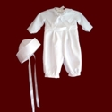Click to Enlarge Picture - Sailor Christening Romper & Hat