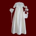 Click to Enlarge Picture - Silk Lord Fauntleroy Style Christening Romper With Detachable Gown
