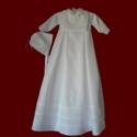 Click to Enlarge Picture - Boys Christening Gown With Bless This Child Bib & Hat