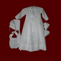 Click to Enlarge Picture - Boys Irish Linen Christening Romper With Detachable Gown, Bib & Accessories