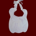 Silk Dupione Christening Bib With Pearls