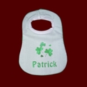 Click to Enlarge Picture - Shamrock Personalized Baby Bib