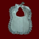 Click to Enlarge Picture - Swiss Batiste Christening Bib