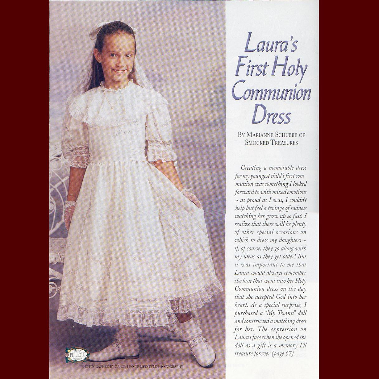 Laura's First Holy Communion Dress